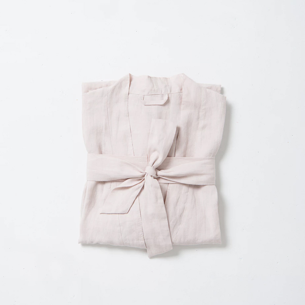The ultimate Valentine's Day gift edit you can not-so-subtly hint to your partner* | Bella Women's Linen Dressing Gown, $159 from CITTÀ