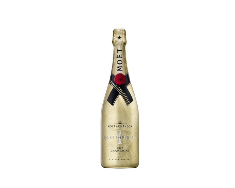 Moet & Chandon Champagne Gold Festive bottle