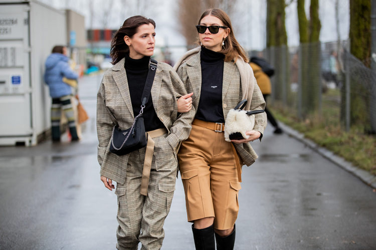 COPENHAGEN, DENMARK - JANUARY 29: Liberta Haxhikadriu and Swantje Sömmer seen outside Holzweiler during Copenhagen Fashion Week Autumn/Winter 2020 Day 2 on January 29, 2020 in Copenhagen, Denmark. (Photo by Christian Vierig/Getty Images)
