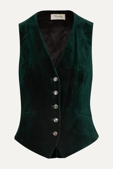 green velvet waistcoat by temperly