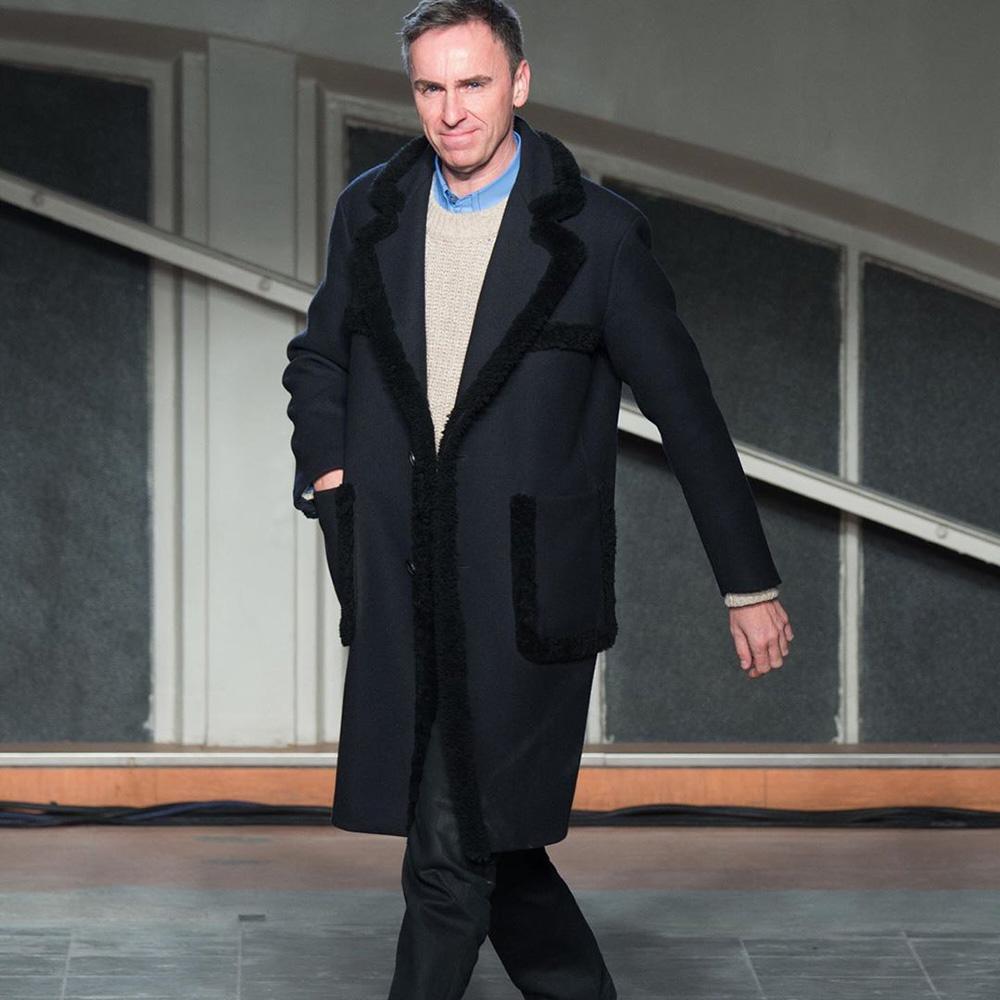 Raf Simons wearing Prada