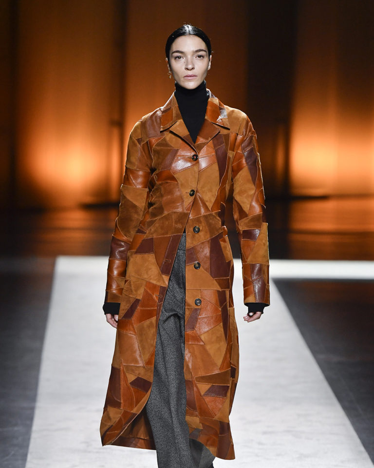 Mariacarla Boscono walks for Tods